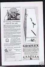 1928 OIL HEATING - GRAFLEX CAMERA  - Diving - Advertising