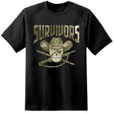 Mens Walking Dead SURVIVORS Distressed T Shirt Negan Rik Daryl Lucile Kingdom TV