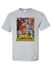 Godzilla vs Mechagodzilla T-shirt vintage Sci Fi Japanese Monster movie gray tee