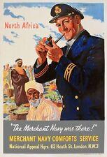WB70 Vintage Merchant Navy Africa British WW2 World War II Poster Print A2/A3/A4