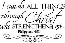 Wall Decal - Philippians 4:13 Bible Verse - Vinyl Wall Art – Home Décor