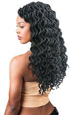 "Curly Faux Loc Goddess Dreadlocks Deep Wavy CROCHET HAIR BULK BRAID BRAIDNG 16"""