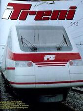 "I Treni 143 1993 Poster Locomotiva E 453 - Test BEMO FFS HGe 4/4"""