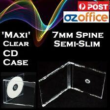 J Card Maxi RARE 7mm Semi Slim CD Cases Maxi CD Case Clear Slimline Jewel Cases