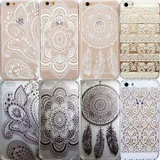 HENNA fleur tribal elephant dream catcher coque téléphone housse iPhone 5/5s 6 6 plus