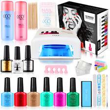 CCO Official Gift Set Kit UV Nail Gel 36W Lamp Gel Starter Kit Present Gift Box