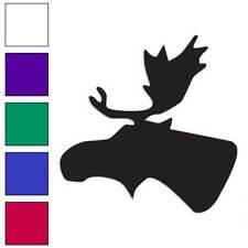 Moose Head Trophy Decal Sticker Choose Color + Size #458
