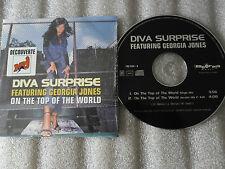 CD-DIVA SURPRISE-On the top of the World- Georgia Jones-(CD SINGLE)-1998-2 TRACK
