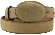 Kids Sand Nubuck Leather Western Cowboy Belt Dress Unisex Round Buckle