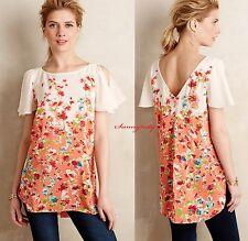 NEW Anthropologie Ludovica Silk Tunic by Maeve S Silk Beautiful Versatile Last 1