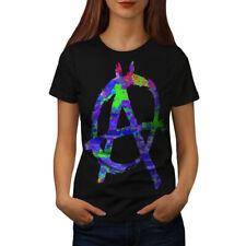 Anarchy Symbol Color Women T-shirt S-2XL NEW | Wellcoda