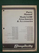 SIMPLICITY PARTS MANUAL MODEL 6100 ATTACHMENTS & ACS.