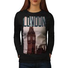 London City Big Ben UK Women Long Sleeve T-shirt NEW   Wellcoda
