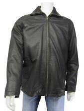 New Men Brown Waxy Classic Biker Leather Double Jacket Bike Rock