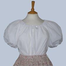 Ladies Victorian  American Civil War short sleeve blouse 10-32