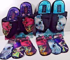 Novi Stars Dolls Lot Girls Slippers & 3 Packs Socks Sizes Available 4/5 6/7