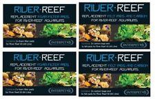 INTERPET RIVER REEF 48 & 94 FILTER FELT PAD CARBON FOAM SPONGE MEDIA FISH TANK