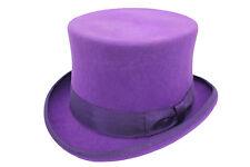 100% laine haute qualité violet mariage événement Chapeau Haut-De-Forme