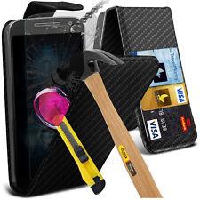 Top Flip Quality Executive Carbon Fiber Phone Case Cover✔Glass Screen Protector