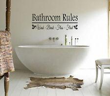 Cuarto de baño normas-wash-brush-floss Pared art/decal citar pegatina-Baño!!!!