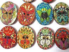 10/20/50 Botones de Mariposa Madera Ovalada Surtido Patrones de Costura Acolcha álbum de recortes
