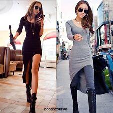 Fashion New Style Women 's Dress  Slim Asymetric Irregular Long Dress