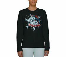 Marvel Comics The Amazing Spiderman Snowflake Web Adults Unisex Black Sweatshirt