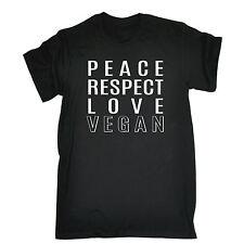 La Paz respeto Amor Vegano T-Shirt Vegano vegetariana Hippie Divertido Regalo Padres Día