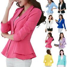 Women Slim OL Suit Casual Blazer Jacket Coat Tops Outwear Long Sleeve CHEAP SLIM