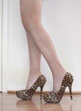 """Studded Leopard Pattern 5"""" High Heel Pumps"""