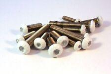 Testa a lente Acciaio inox A2 bianco M4 M5 M6 ISO 7380-2 Viti V2A vite vite
