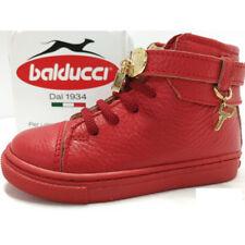 Balducci Sneakers Bambina scarpe alta Pelle suola Estraibile rosso lucchetto