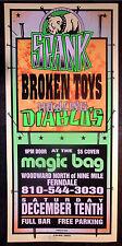 Rare Mark Arminski Spank Broken Toys1994 Concert Poster