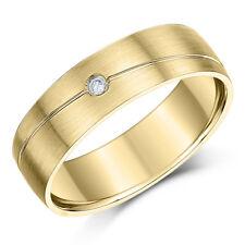 9 Ct Oro Amarillo Diseñado Diamante Juego Alianza 6mm