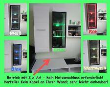 3x LED Glaskantenbeleuchtung Glasbodenbeleuchtung Glasbeleuchtung Batteriehalter