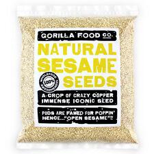 Gorilla Food Co. Sesame Seeds Hulled - 200g-3.2kg (Great value £ per 1kg)