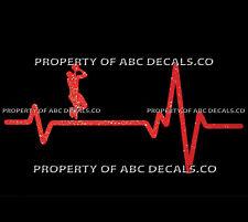 VRS HEART BEAT LINE BASKETBALL MAN Shorts Shooting Ball Fade Rim CAR METAL DECAL