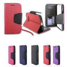 Folio Card Slot Photo Frame Holder Wallet Case For Samsung Galaxy Sky S320VL J3