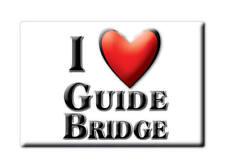 SOUVENIR UK - ENGLAND FRIDGE MAGNET I LOVE GUIDE BRIDGE (GREATER MANCHESTER)