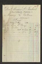 "PARIS (III°) COMMERCE de MERCERIE ""L. JACHIET"" en 1910"