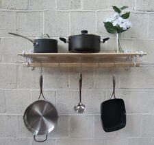 Vintage Ancien Style Country cuisine étagère rack Pot Pan Rack Support Rail