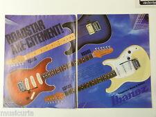 retro magazine advert 1983 IBANEZ roadstar series , double page