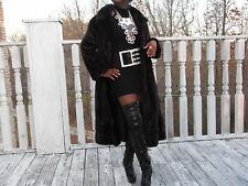 Swing Schiaparelli Full length dark sable brown hue Mink Fur Coat Jacket S 2-10