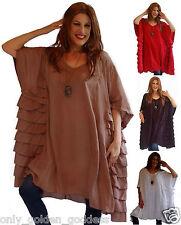 pick color caftan tunic poncho over size OSFA rayon chiffonM L XL 1X 2X 3X 4X 5x