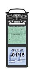 Porte assurance CHRYSLER 300C étui méga double vignette Stickers auto rétro