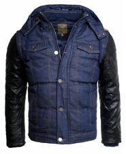 Young & Rich Herren 2in1 Winter Jeans Jacke warm gefüttert Kontrast Look jk-420