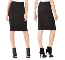 BCBG Max Azria Leger Lyric Women Suede Black Bandage Waist Pencil Skirt S M L