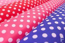 Blanco pea Spots (lunares) de poliéster tejido de algodón - 9 Mm Manchas