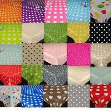 Dotty Spots Polka Dots  Wipe Clean PVC Vinyl  Oilcloth Tablecloth