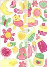 CREATIVE MEMORIES Baby Girl Bright JUMBO Scrapbooking STICKERS 2 Sheets New